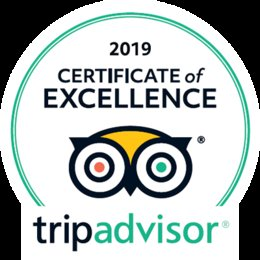 2019 TripAdvisor Certificate of Excellence Award Winners